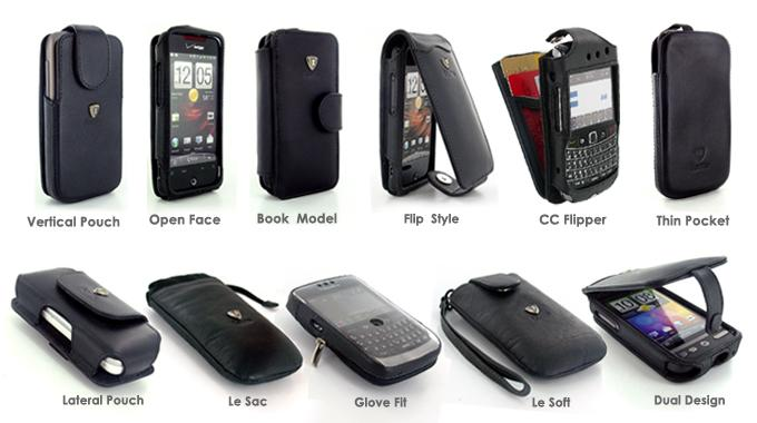 Model Options Leather PDA cases